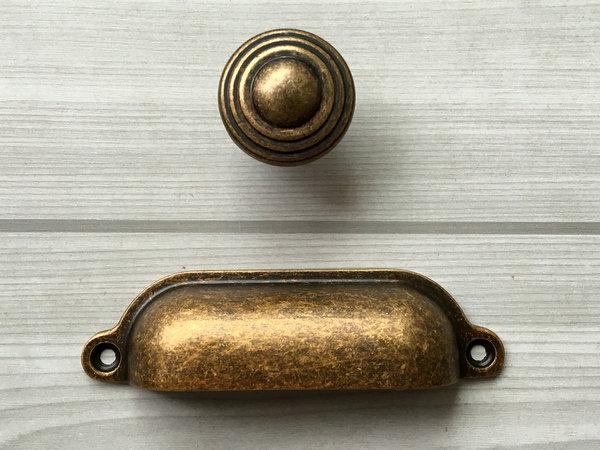 Antique Bronze Knobs Dresser Drawer Pulls Handles Knobs Kitchen Cabinet Knob Cup Bin Retro Kitchen Furniture