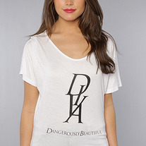 The Diva Tee in White