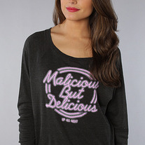 The Neon Sign Long Sleeve Tee in Charcoal