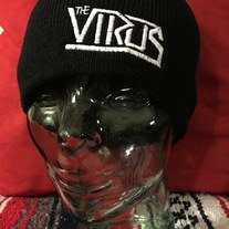 Virus embroidered knit beanie   medium photo