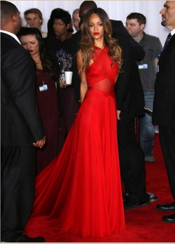 H40 fashion red prom dress, prom dress ,Red Carpet Long Prom Gowns ...