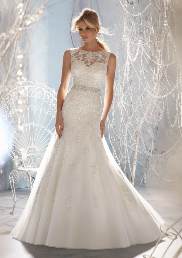 D109 Mermaid Wedding Dresses, Lace Top Wedding Bridal Gowns ...