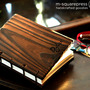 Personalized Pine Wooden Handcrafted Coptic Journal - Thumbnail 2