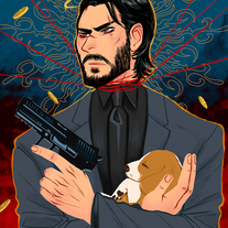 John Wick - Baba Yaga 8.5 x 11 Print medium photo