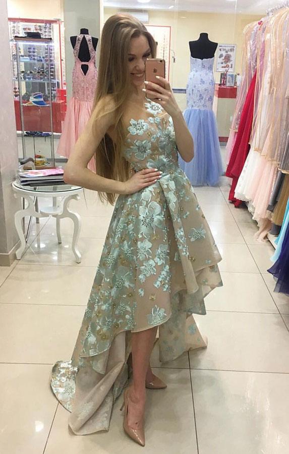 Sexy Prom Dresspretty Prom Dresshigh Low Prom Dresses 420