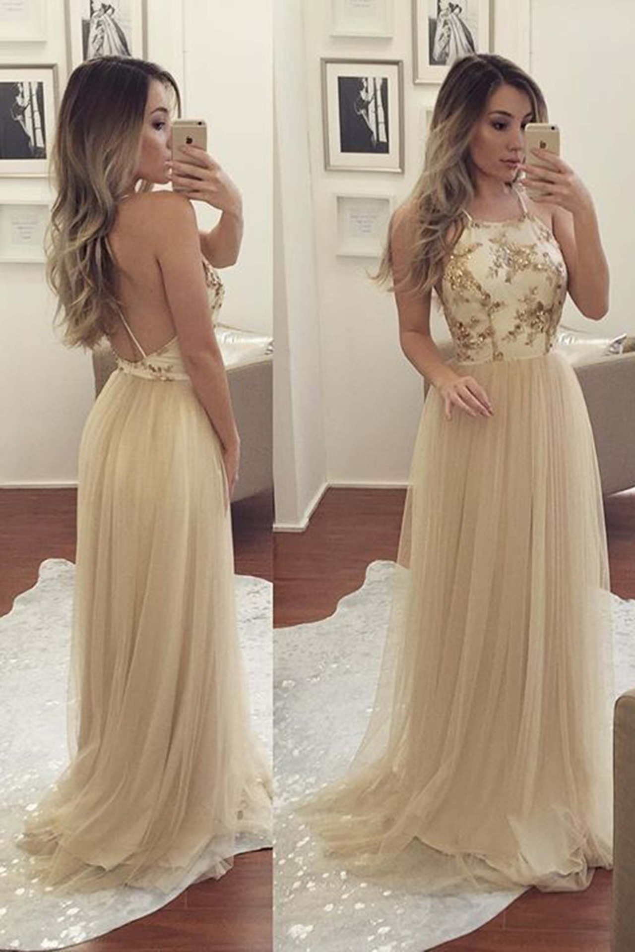 Spaghetti Prom Dresses,Long prom dress,Sequin Prom Dress,Affordable ...