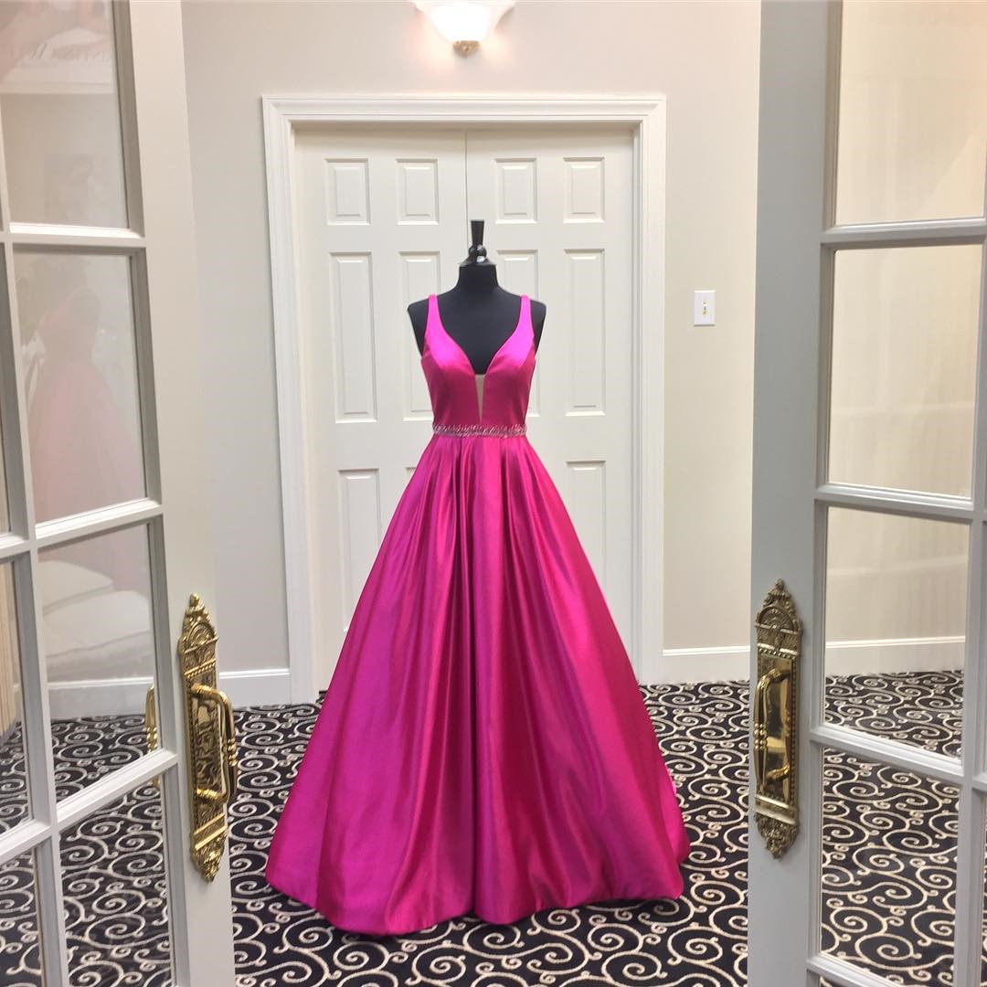 v neck prom dress,ball gowns prom dress,sexy prom gowns,MB 204 · Ms ...
