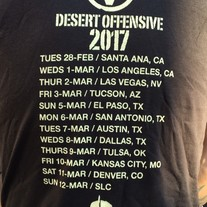 Desert Offensive Tour Tee medium photo