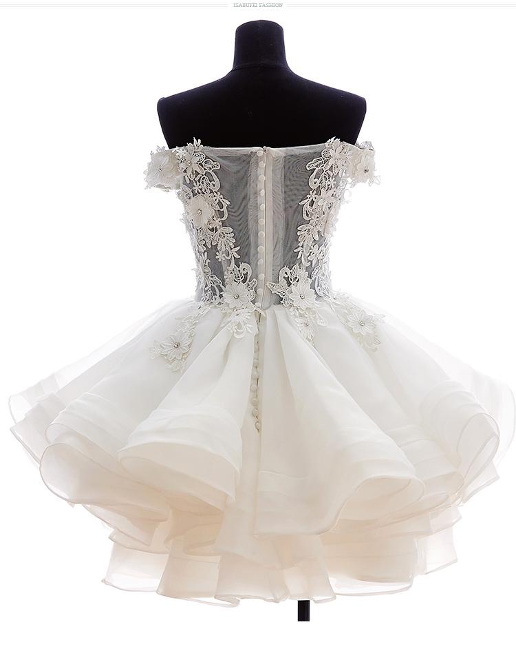 c4af780bc78 XP329 Cute Off Shouler White Lace Applique Homecoming Dress