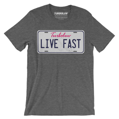 License plate t shirt turboluv online store powered by for T shirt licensing agreement