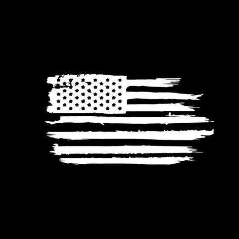 Rustic American Flag Decal 183 American Die Cut Decals