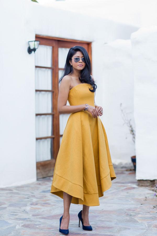 simple yellow satin prom dress cute yellow evening dress