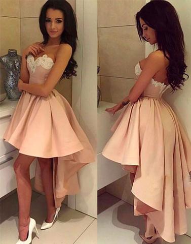 2017 Prom Dressescute Prom Dresseshigh Low Prom Dress Cute