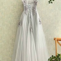 gorgeous prom dress with corset back prom dresses