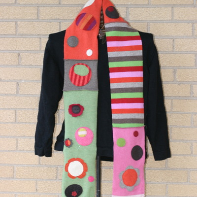 Girly, dotty, awesome felted wool scarf