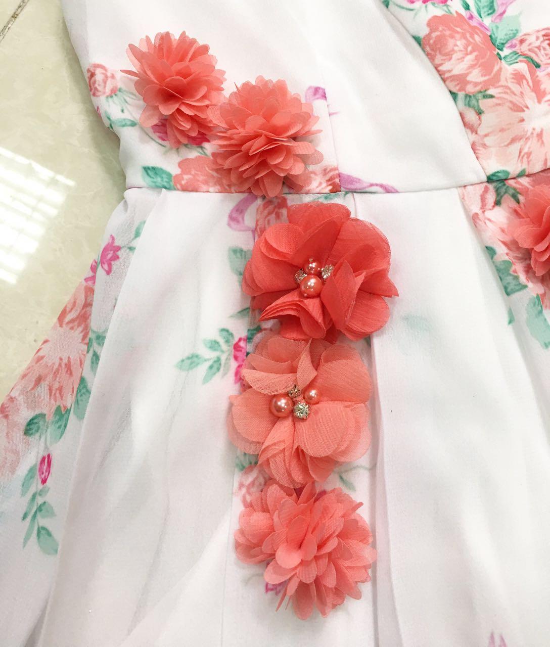Bm31 Belle 2017 White Dress Celebration Dress Disneybound Chiffon