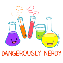 Unisex T-Shirt - Kawaii Chemistry - Dangerously Nerdy Science Tee Shirt