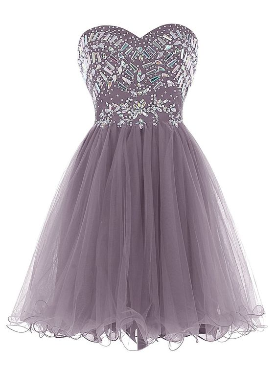 New Arrival Strapless short Homecoming Dresses Beading Short Prom ...
