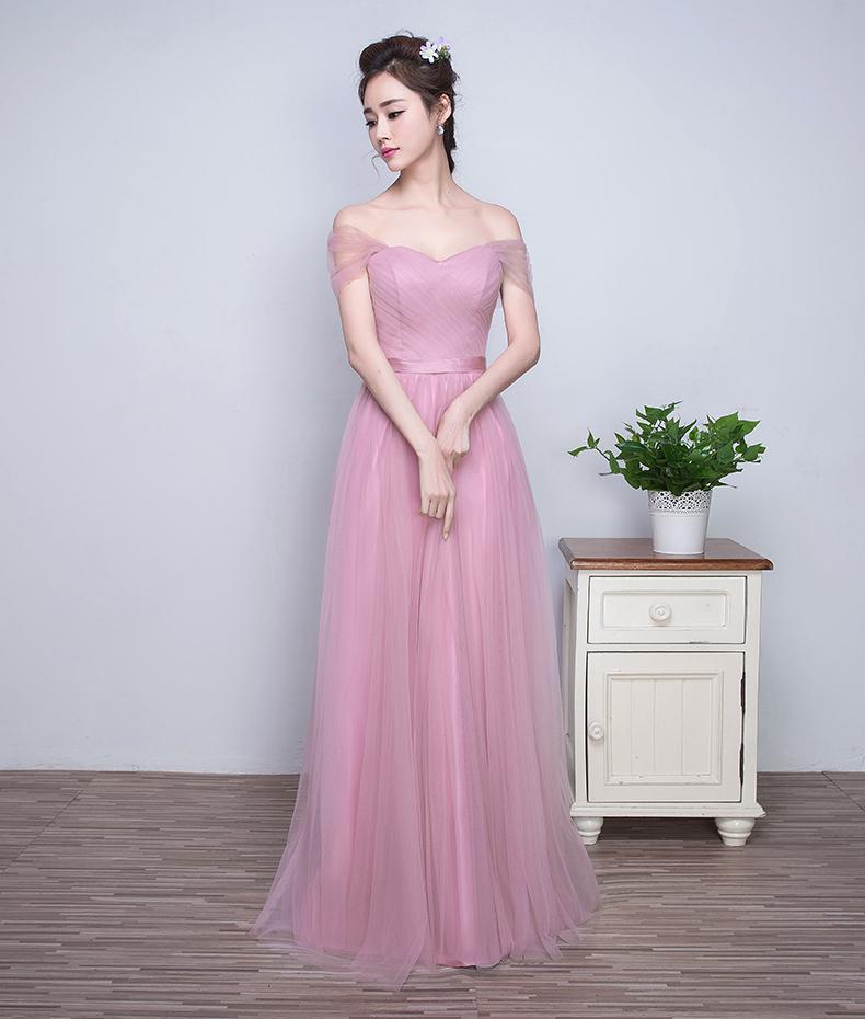 ZX7 New arrival cheap light purple bridesmaid dress,long prom dress ...
