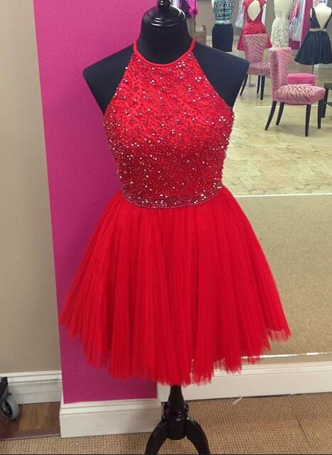 Red Homecoming Dress Short Prom Dress Graduation Party