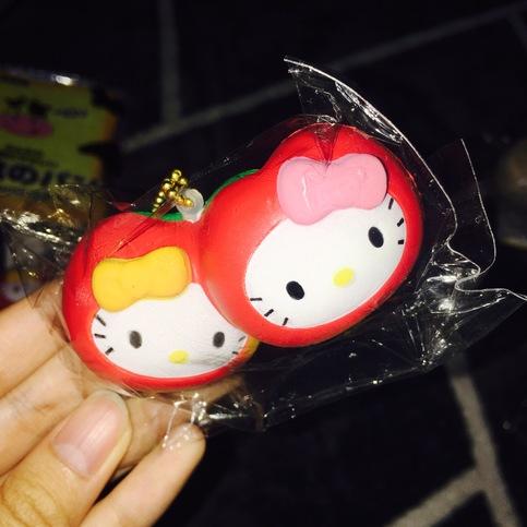 Squishy Ball Bracelet : Sanrio Hello Kitty Twins Apples Squishy Ball Chain on Storenvy