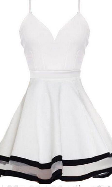 White Homecoming Dress,Short Party Dress,Formal Dress,Cute Summer ...