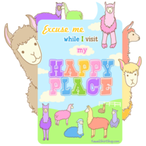 Ladies' T-Shirt - Kawaii Llamas Happy Place