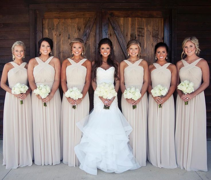 Hot Selling Long Chiffon Bridesmaid Dresses Under 100