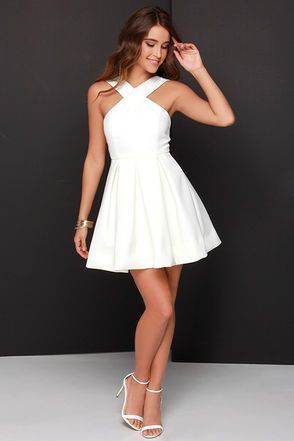 White Prom Dress,simple Prom Dresses,lace Prom Gowns,Simple Prom ...