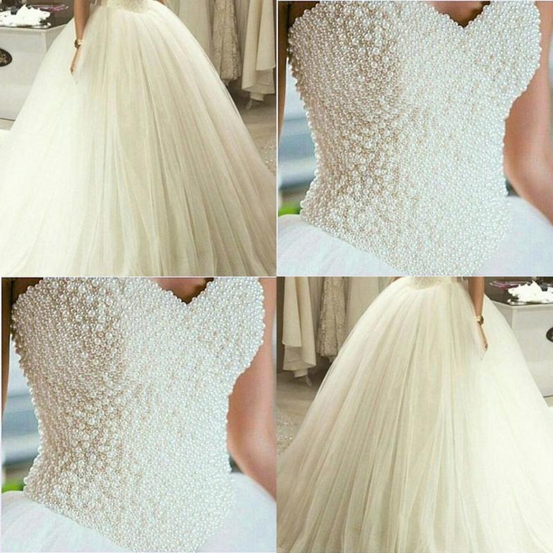 Charming White Tulle Wedding Dress,Elegant Wedding Dresses with ...