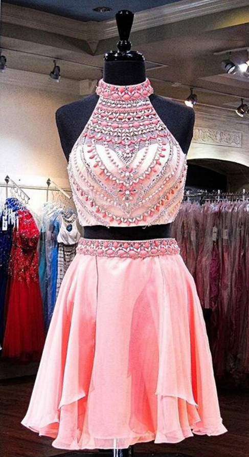 beading homecoming dresses 2018 Charming lace prom dress,short ...