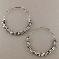 Poparazzi Basketball Wives Silver Hoop Earrings