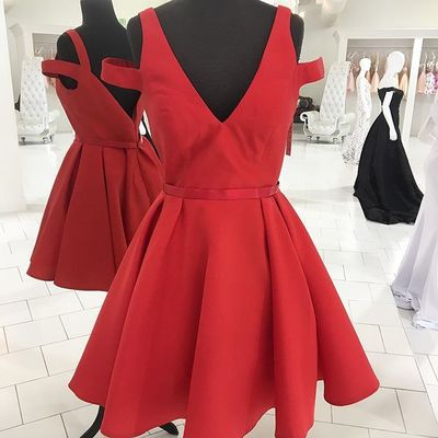 New Style Prom Dresses Short Red Prom Dress Homecoming Dress 2017 ...