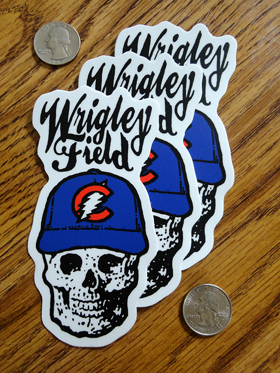 Dead wrigley chicago durable vinyl stickers