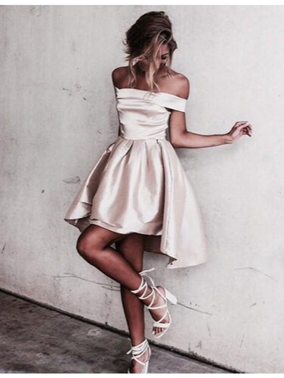 Off-the-Shoulder Short Homecoming Dresses,Graduation Dresses ...