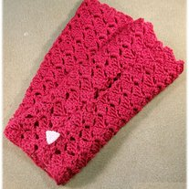 Ladies Red Lace Gloves
