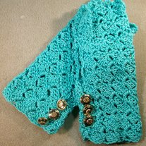 Ladies Blue Lace Gloves