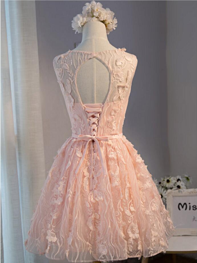 Short Peach Prom Dresses