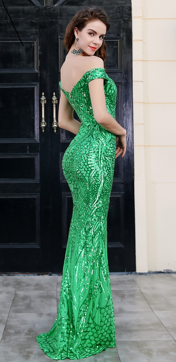Green Sequin Gown · somethingshelikes · Online Store Powered by Storenvy
