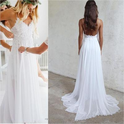 Wedding dresses 21weddingdresses online store powered by storenvy spaghetti straps white long chiffon lace beach wedding dresseswedding dresssimple cheap summer junglespirit Image collections