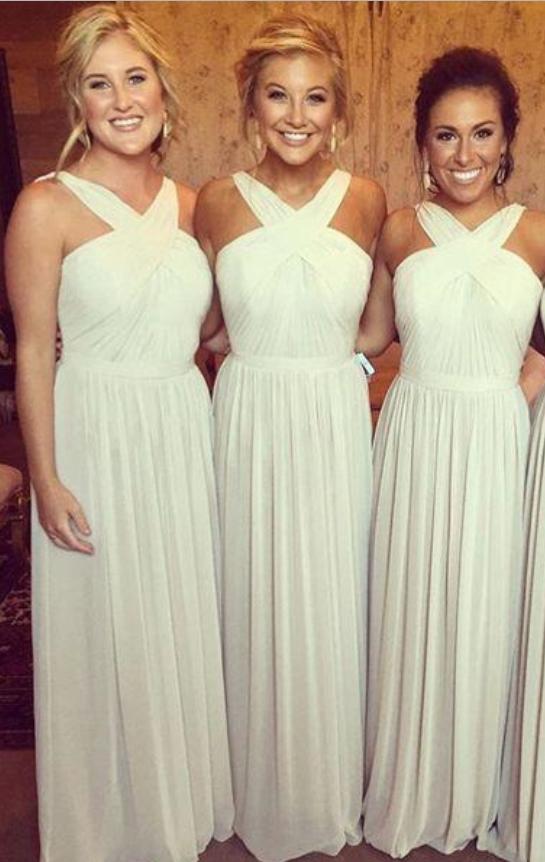 Halter Chiffon Beach Wedding Dresses
