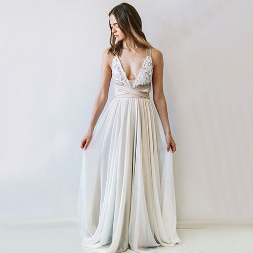 Unique A-line white tulle long prom dress,lace evening dress · Dream ...