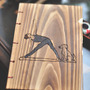 My Products / Letterpress Wooden handcrafted Yoga Art Sketch/Journal Book - Thumbnail 1
