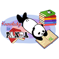 Ladies' T-Shirt - Knowledge is Panda Nerdy Kawaii Tee