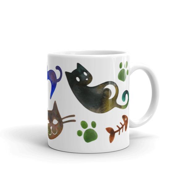 Cats Mug Watercolor Print Kawaii Animal Gift For Cat