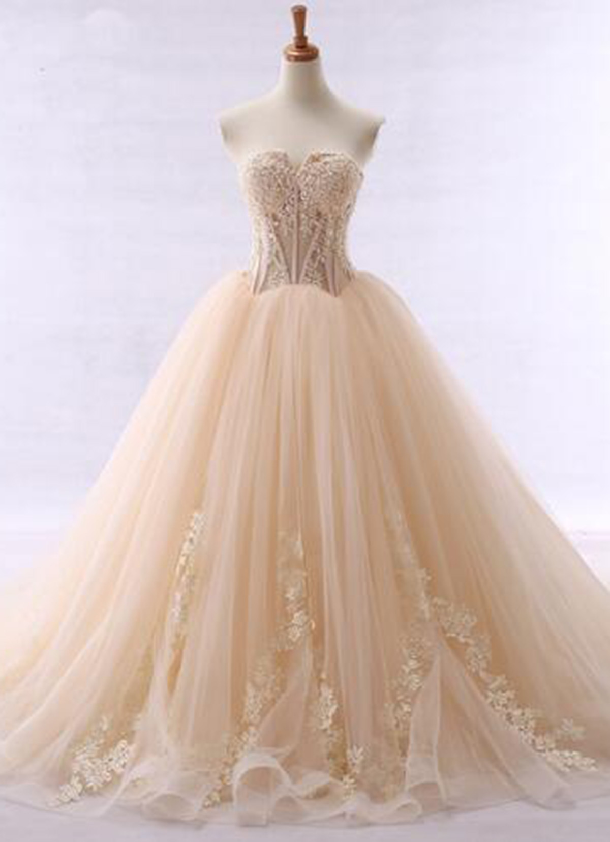 Charming Prom Dress, Tulle Ball Gown Prom Dresses, Elegant Evening ...