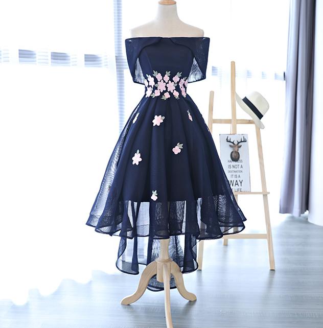 Dark Blue Short Prom Dresses
