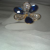 Blue Ivy Flower Jewel Ring