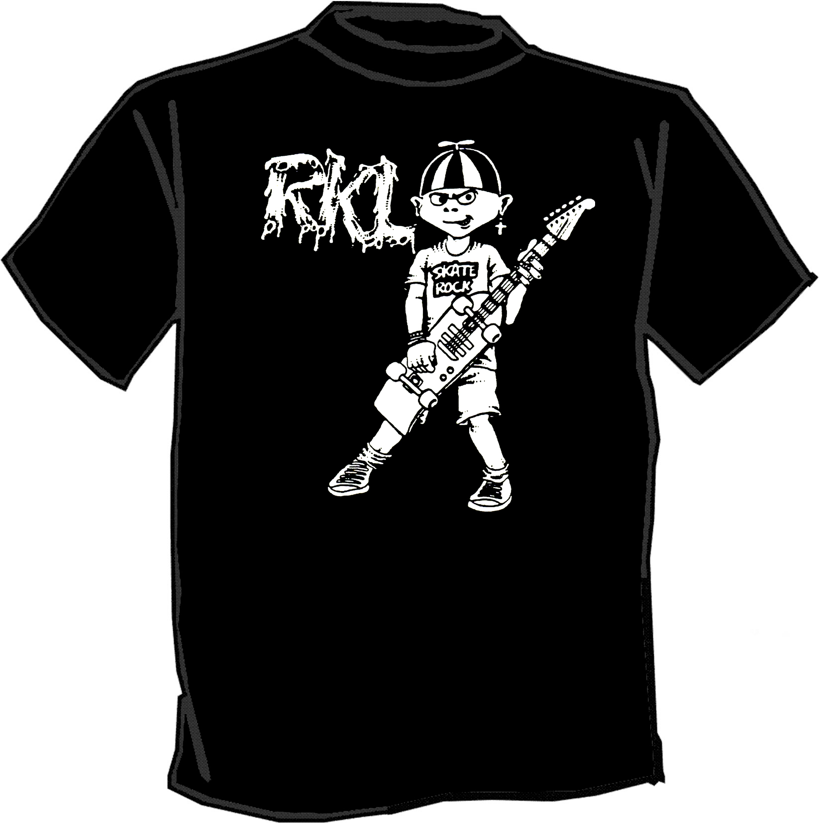 Rkl punk band t shirt silk screened screenprinted screen for Silk screen tee shirts online