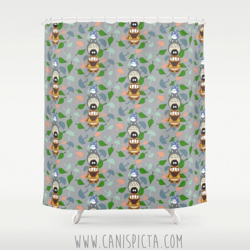 Totoro Kawaii My Neighbor Shower Curtain 71\